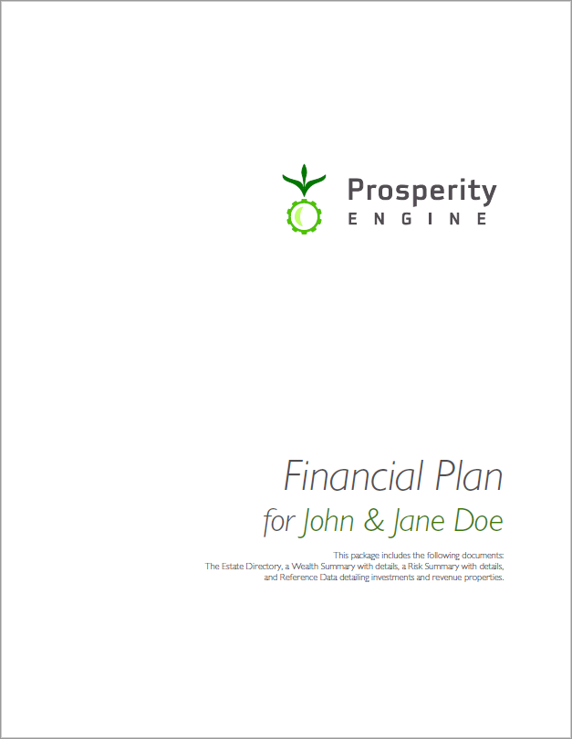 Financial Plan Title Page