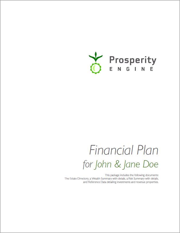 Financial Plan Title Page