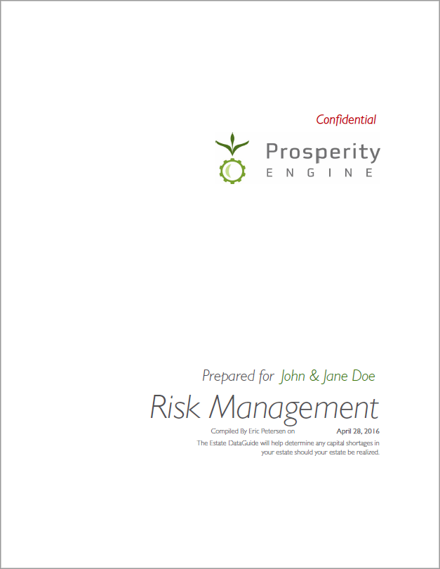 Risk Management Title Page
