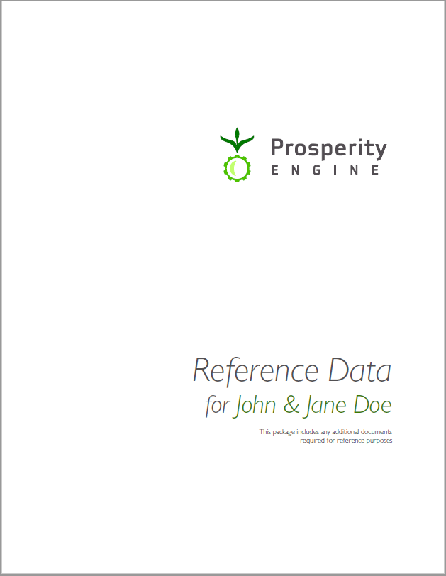 Reference Data Title Page